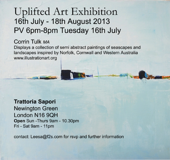 Uplifted art exhibit flier